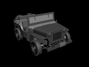 3d model army jeep