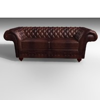 3d grosvenor 3 seater leather chair