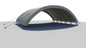 military hangar desert 3d model
