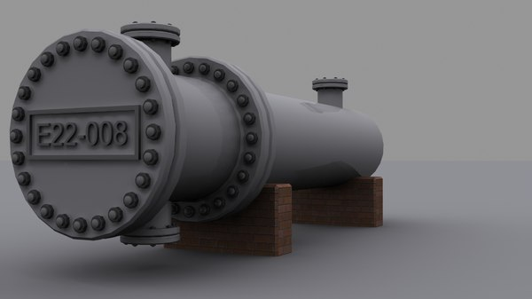 shell heat exchanger 3d max