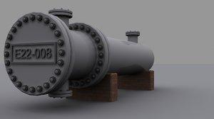 shell heat exchanger 3d max