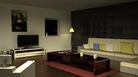3d model interior rendered
