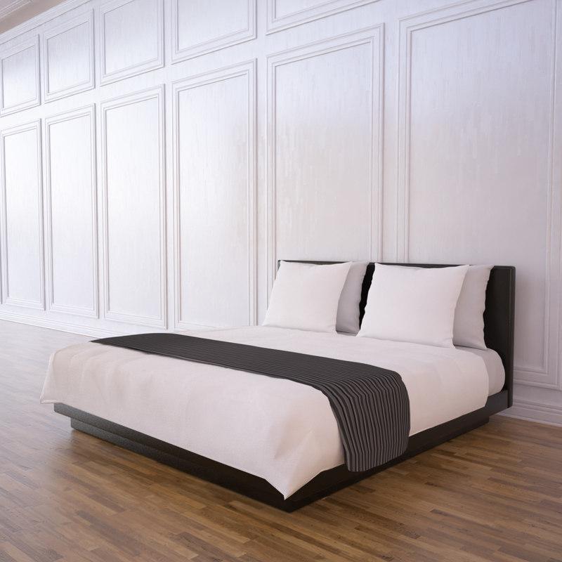 hotel bed 3d max