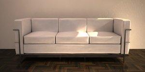 3d model lc3 sofa