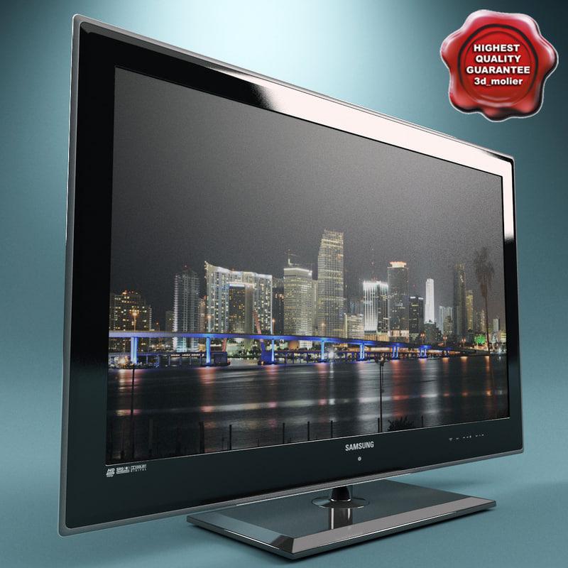 3d model of lcd tv samsung ue40b7090