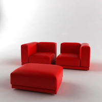 3d vitra place sofa