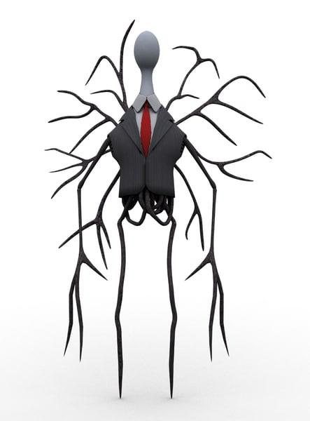 free cartoon slenderman toon 3d model