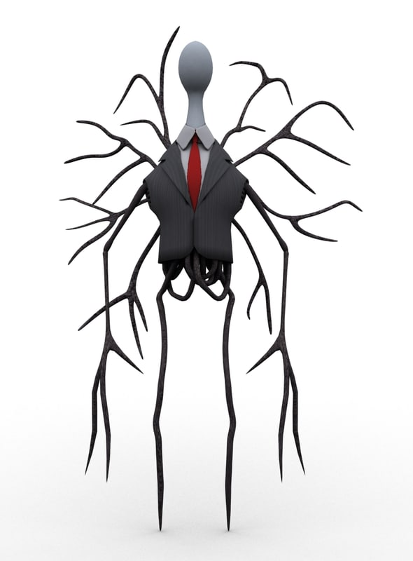 free cartoon slenderman toon 3d model
