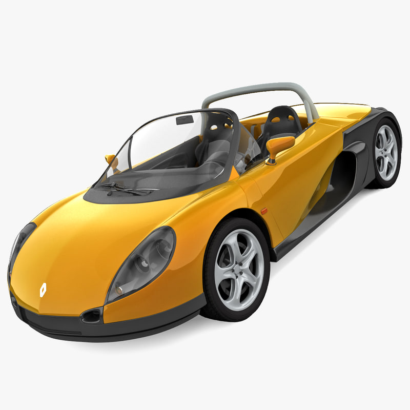 rigged renault sport spider 3d 3ds
