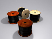 3d wire cable spools model