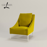 3ds max jean armchair