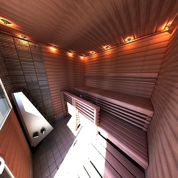 3d model finnish sauna