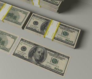 3d dollar bill