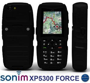 sonim xp5300 force heavy 3d model