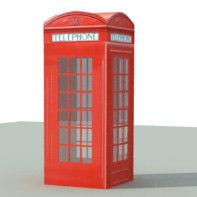 3d model telephone box