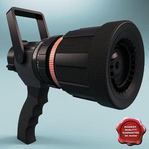 3d model of turbojet nozzle