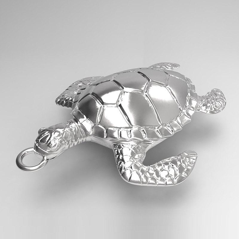 3ds max sea turtle pendant
