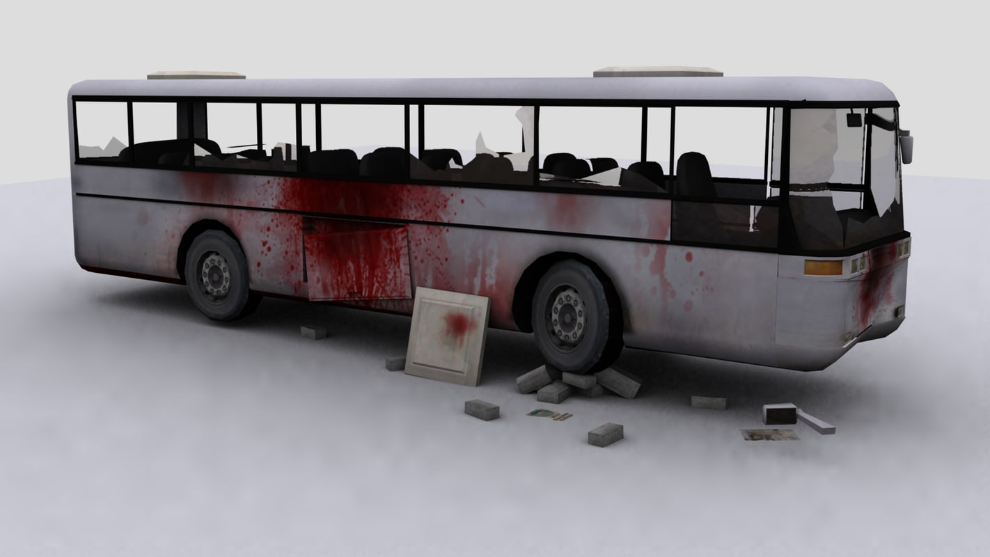 3d coach destroyed zombies
