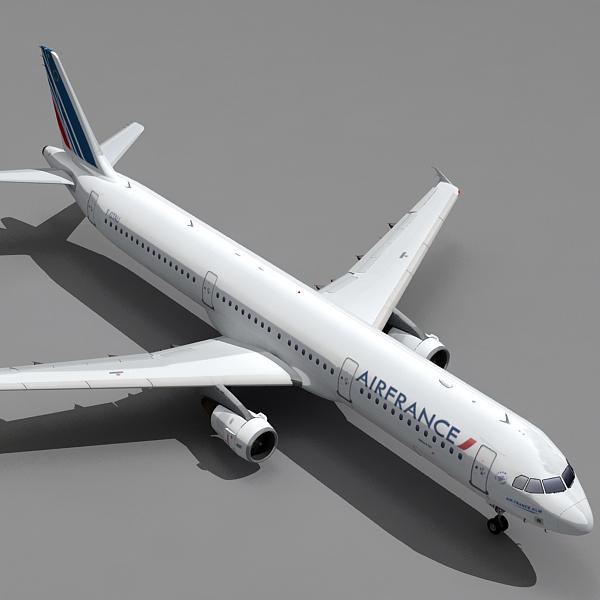 3d max a321 plane airfrance