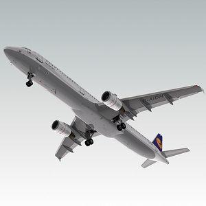 3d a321 plane lufthansa