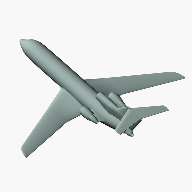 3d yak-42d jet airplane model