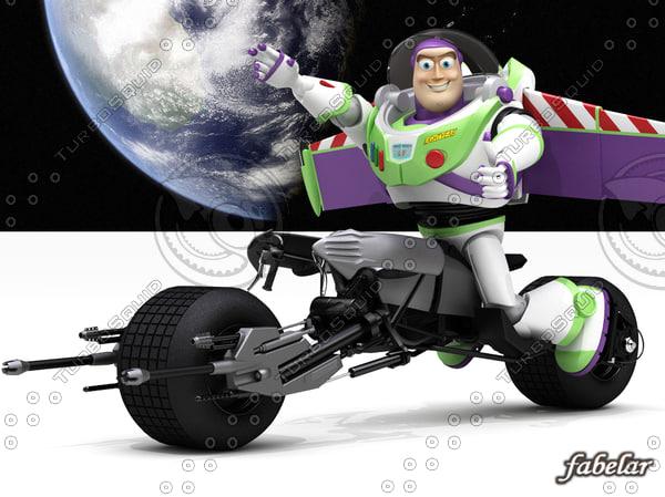 buzz lightyear batpod toy max