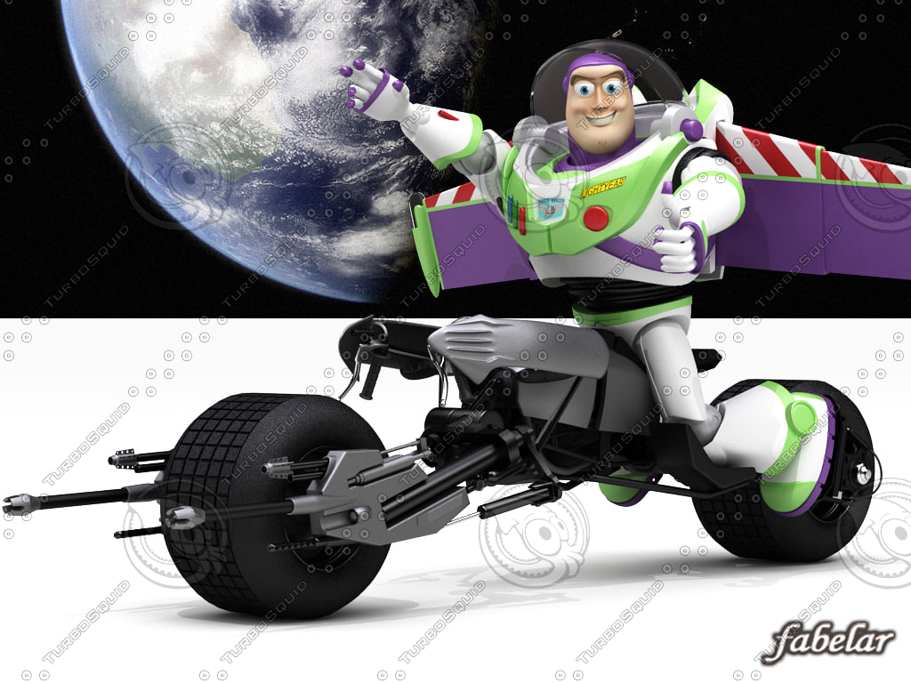 buzz lightyear batpod toy max