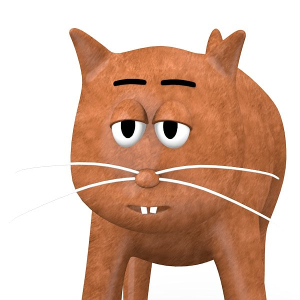 3d cat cartoon model