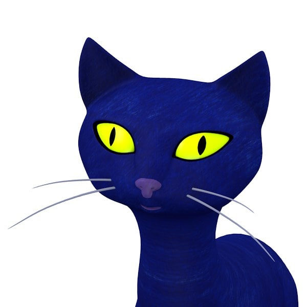 cat cartoon 3d 3ds