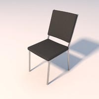 simple office chair 3d model