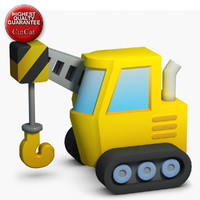 3d model construction icons 15 crane
