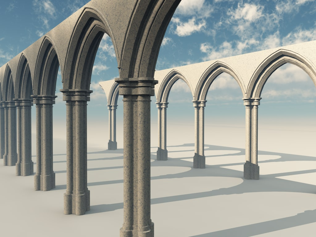cathedral arch stone 3d model
