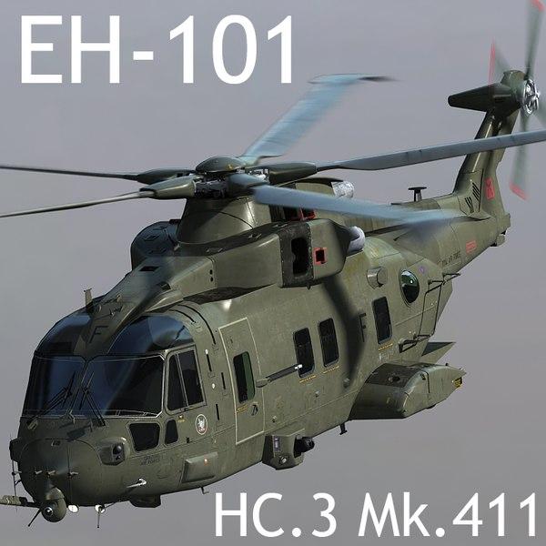 ehi eh-101 merlin hc 3d max