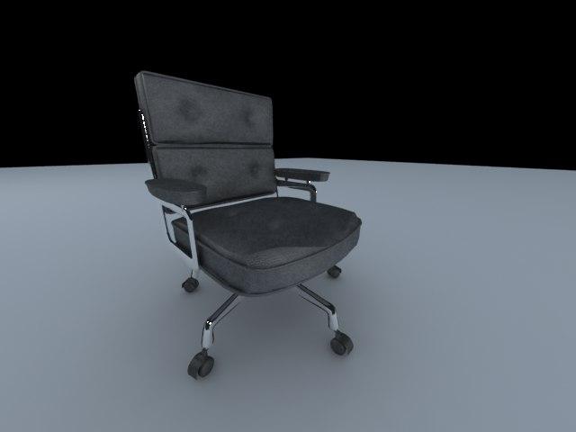 eames lobby chair 3d 3ds