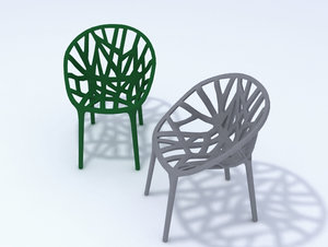3d model vegetation chair
