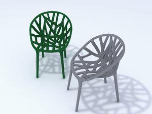 3d model vegetation chair