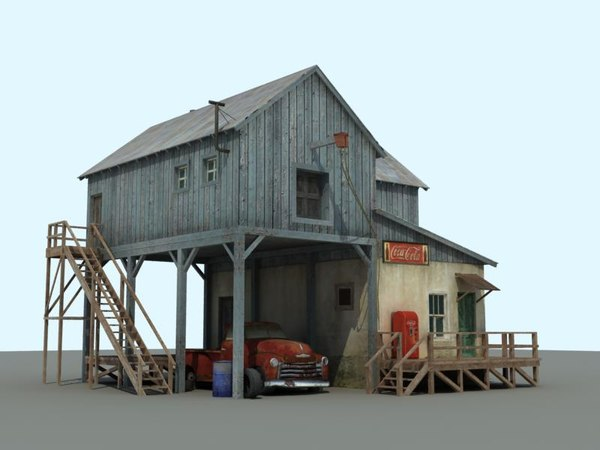 old farm chevrolet 3d model