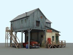 old farm chevrolet 3d model