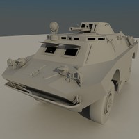 BRDM 2 soviet military vehicle