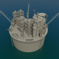 floating oil rig max
