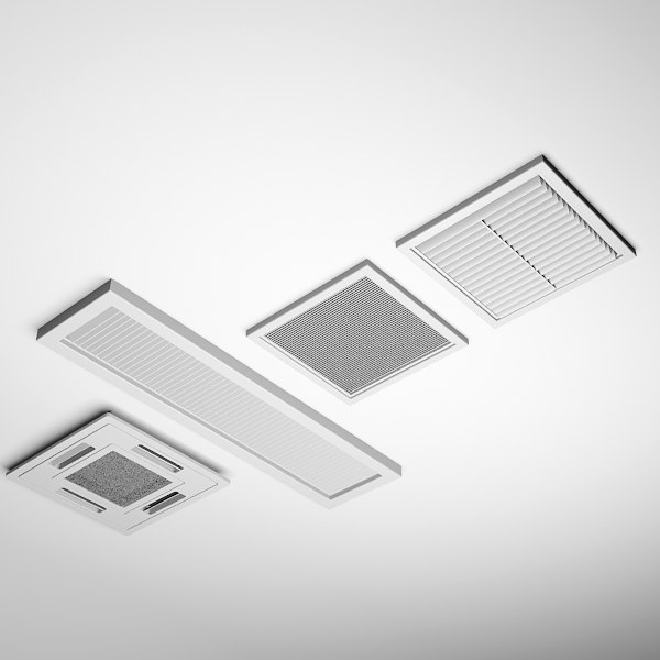 3ds max ceiling vents