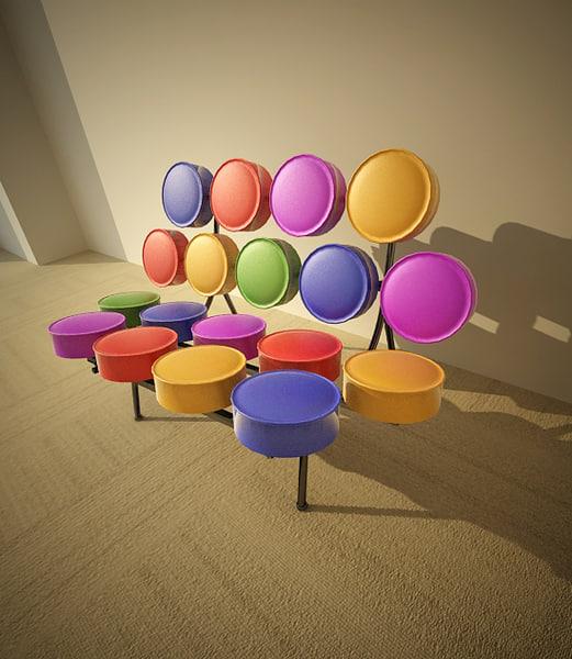 marshmallow sofa 3d 3ds