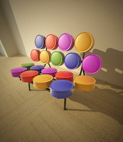marshmallow sofa 3d 3ds