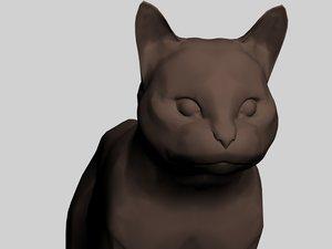 3d cat feline model