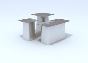 3d model metalside table