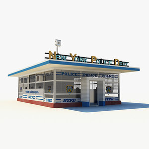 small police station 3d c4d