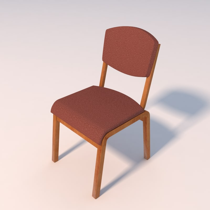 3d model simple office chair