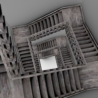old staircase interior 3ds