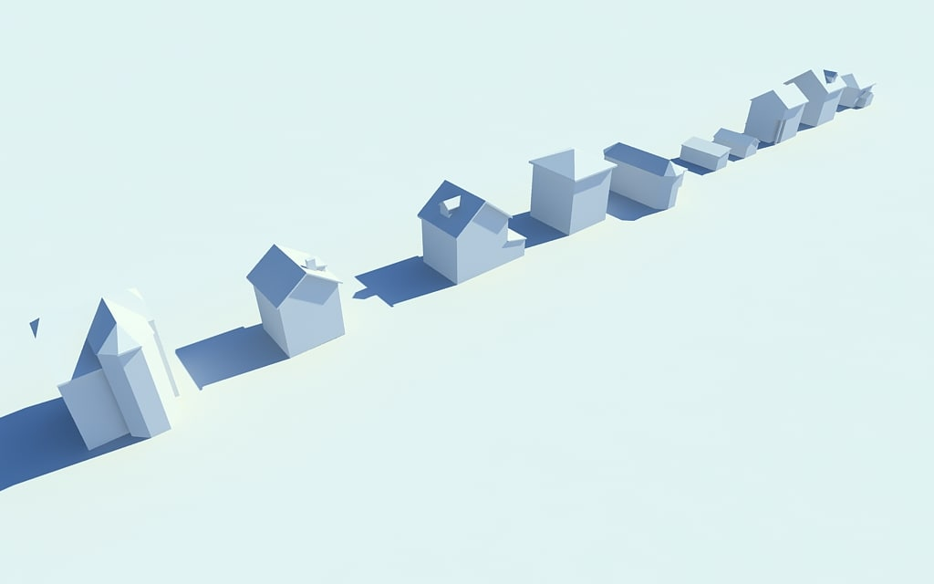 3d model extra simple houses