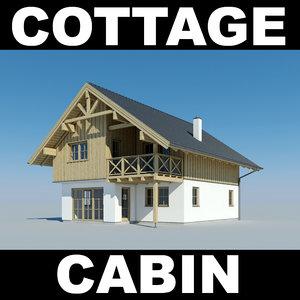 house cottage 3d max